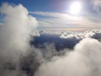 zwischen den Wolken zu fliegen ist immer ein spezielles Erlebnis