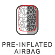 Pre-inflated airbag