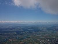 Nicole - sicht von der Jurabasis über das ganze Mittelland auf die schöne Alpenkette