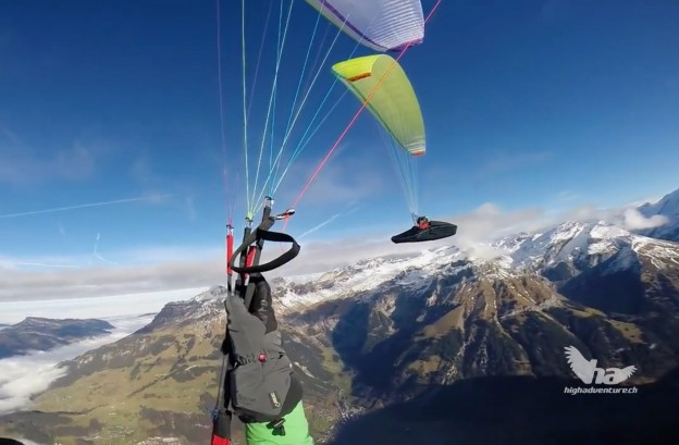 Making of fotoshooting Titlis 2016 - Paragliding