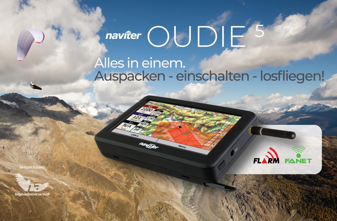 Naviter Oudie 5 - Flarm/Fanet