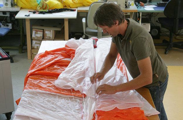 Ausbildung Rettungsschirm packer