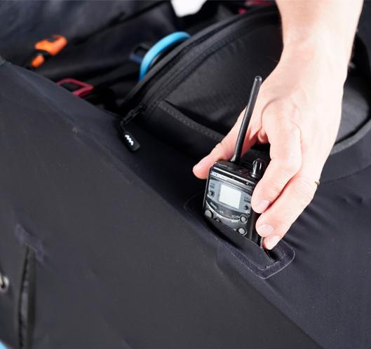 Aerodynamische Funk- order Kameratasche